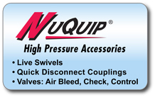 NuQuip� High-Pressure Accessories Product Overview